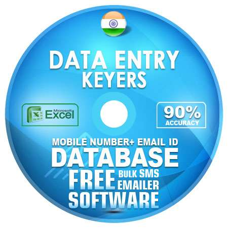 Indian Data Entry Keyers Mobile Number + Email ID Database