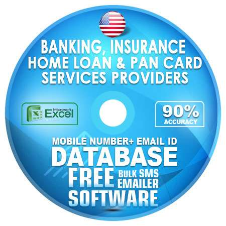 USA Banking, Insurance-Home Loan & Pan Card Services Providers Mobile  Number + Email ID Database