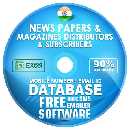 Indian News Papers & Magazines Distributors & Subscribers Mobile Number +  Email ID Database