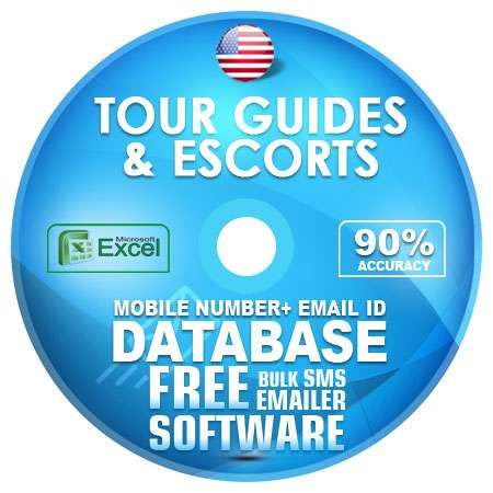 USA Tour Guides And Escorts Mobile Number + Email ID Database