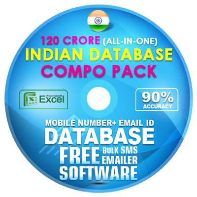 120 Crore - Indian Email ID + Mobile Number Database [ All in One Compo  Pack ]