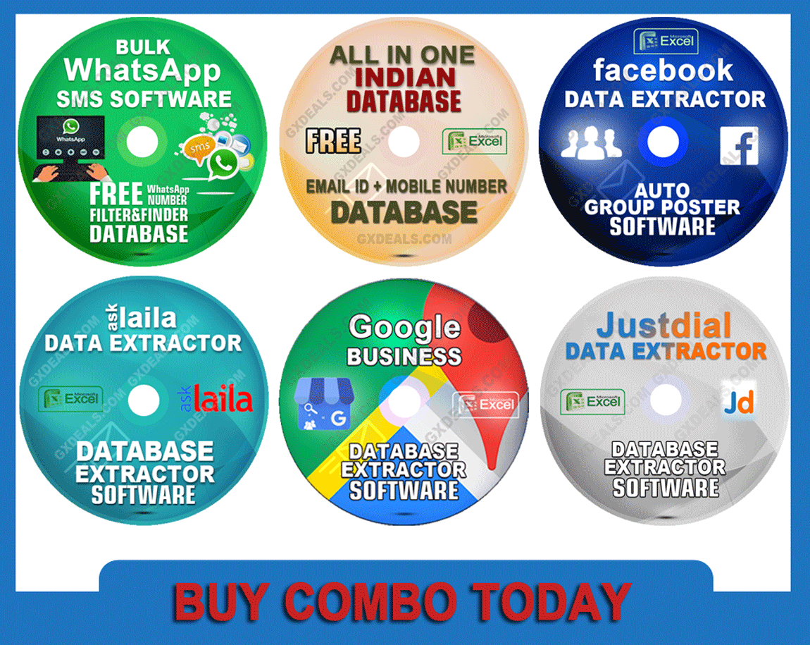 WhatsApp and Facebook Marketing Software + 4 Data Extractor & Free All Indian Database Combo